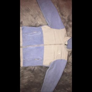 Blue North Face sweater